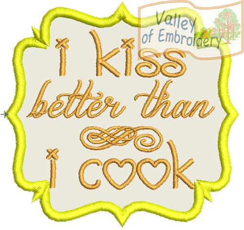 I kiss better